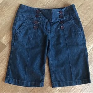 American Rag dark wash denim bermuda shorts